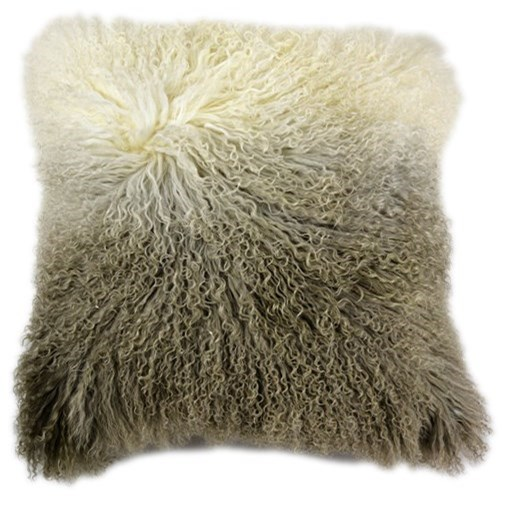 Pillows and Throws Lamb Fur Pillow Light Grey Spectrum by Moe's Home Collection at Stoney Creek Furniture