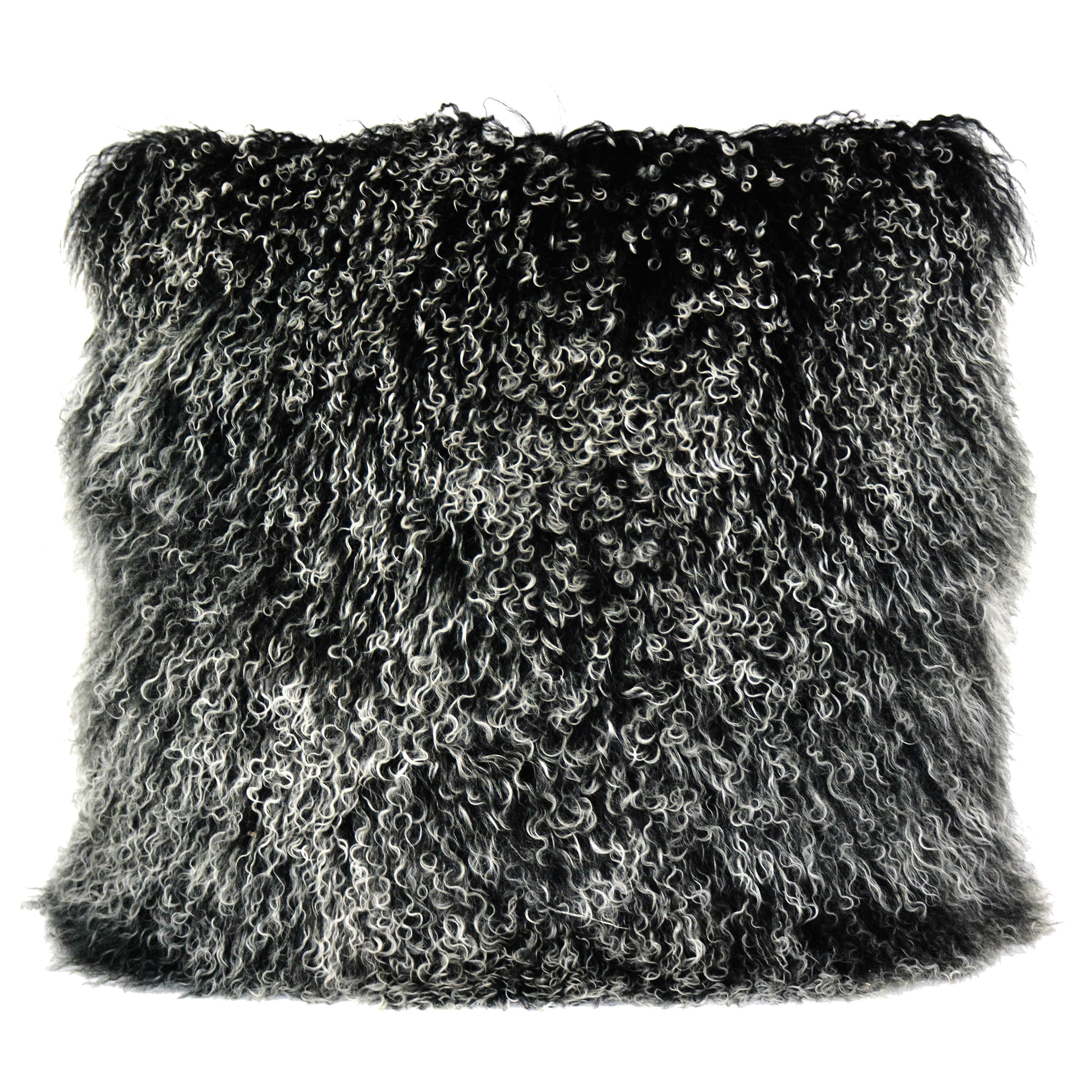 Pillows and Throws Lamb Fur Pillow Large Black Snow by Moe's Home Collection at Stoney Creek Furniture