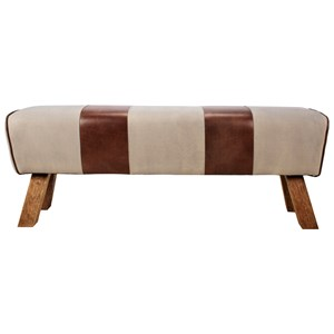 Contemporary Bench with Flared Wood Legs