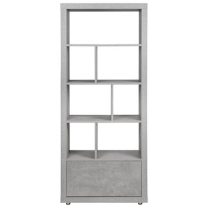 Contemporary Bookcase with 7 Shelves and 1 Drawer