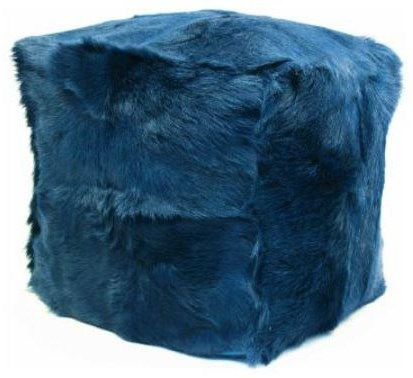 Pouf Goat Fur Pouf Navy by Moe's Home Collection at Stoney Creek Furniture