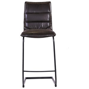 Contemporary Faux Leather Barstool