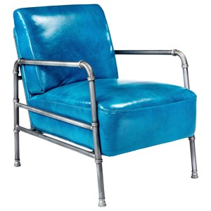 Club Chair with Metal Frame