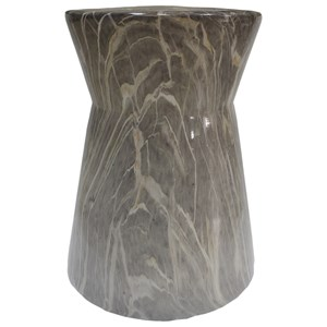 Contemporary Stool with Marble Finish