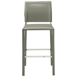 Contemporary Counter Stool with Bonded Leather
