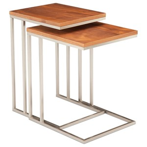 Contemporary Set of Two Nesting Tables