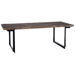 Rustic Industrial 86-Inch Rectangular Dining Table Large