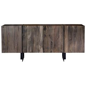 Rustic Industrial 4-Door Small Size Sideboard