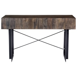 Rustic Console Table with 2 Drawers