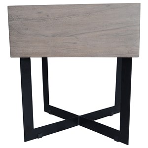 Rustic Side Table with Drawer