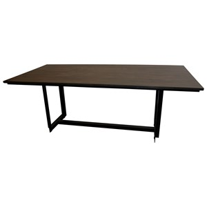 Rustic Industrial 80-Inch Rectangular Dining Table