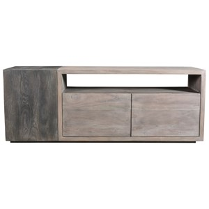 Contemporary Solid Wood Media Cabinet