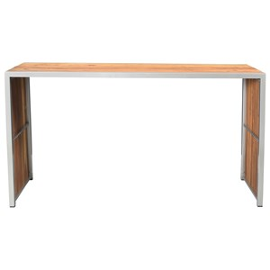 Contemporary Bar Table with Reclaimed Solid Wood
