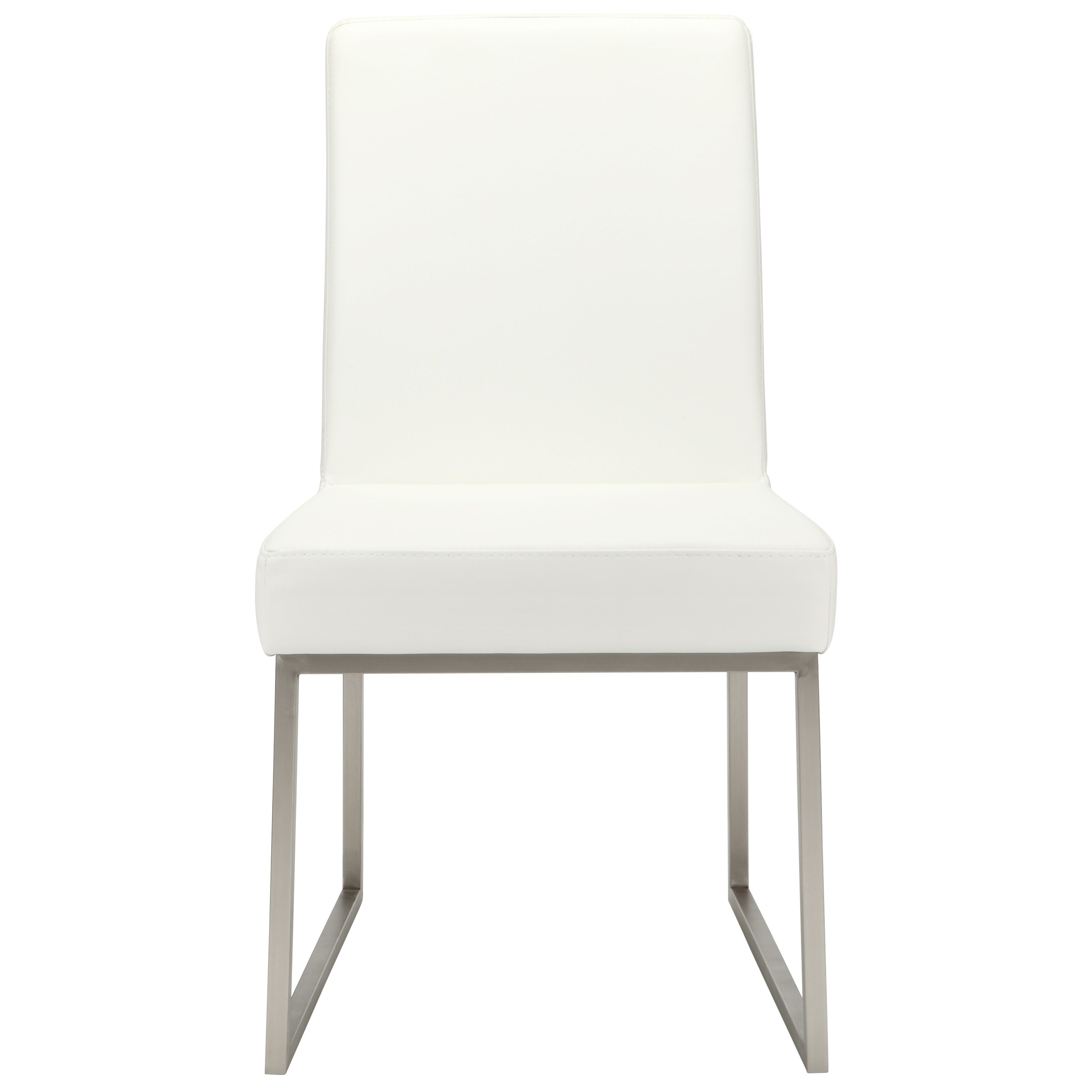 Tyson White Dining Chair by Moe's Home Collection at Stoney Creek Furniture