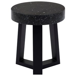 Contemporary Stool with Terrazzo Top