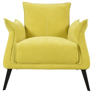 Contemporary Club Chair with Pillow-Shaped Arms