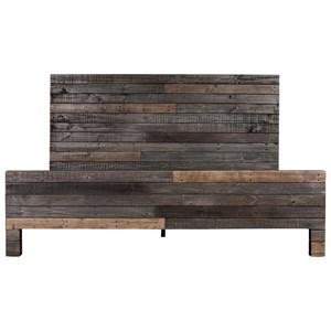 Modern-Rustic California King Size Grey Bed