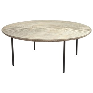 Contemporary Coffee Table with Solid Wood Top