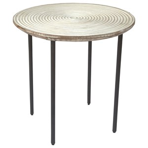 Contemporary Side Table with Solid Wood Top