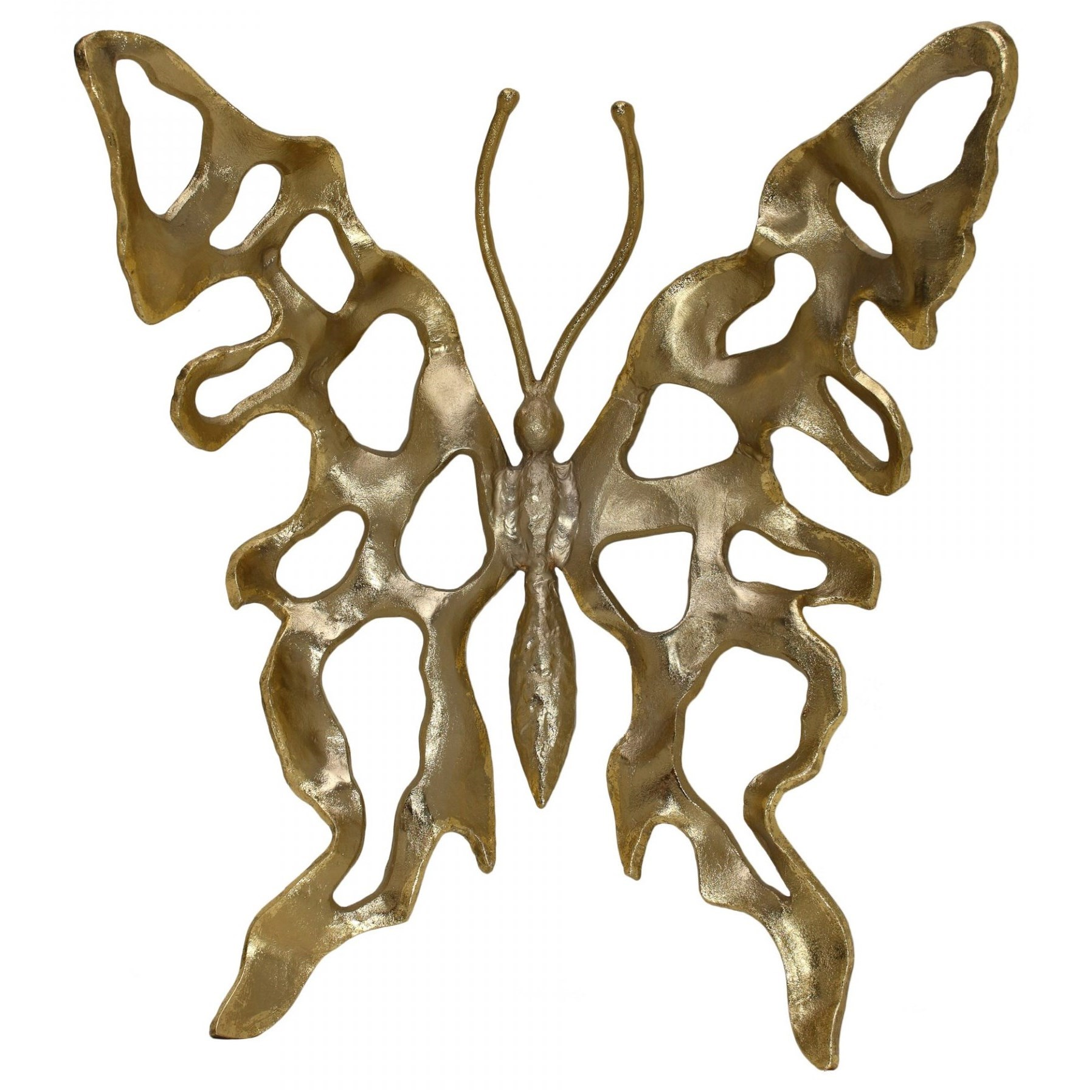 Wall Décor Metal Butterfly Champagne Large by Moe's Home Collection at Stoney Creek Furniture