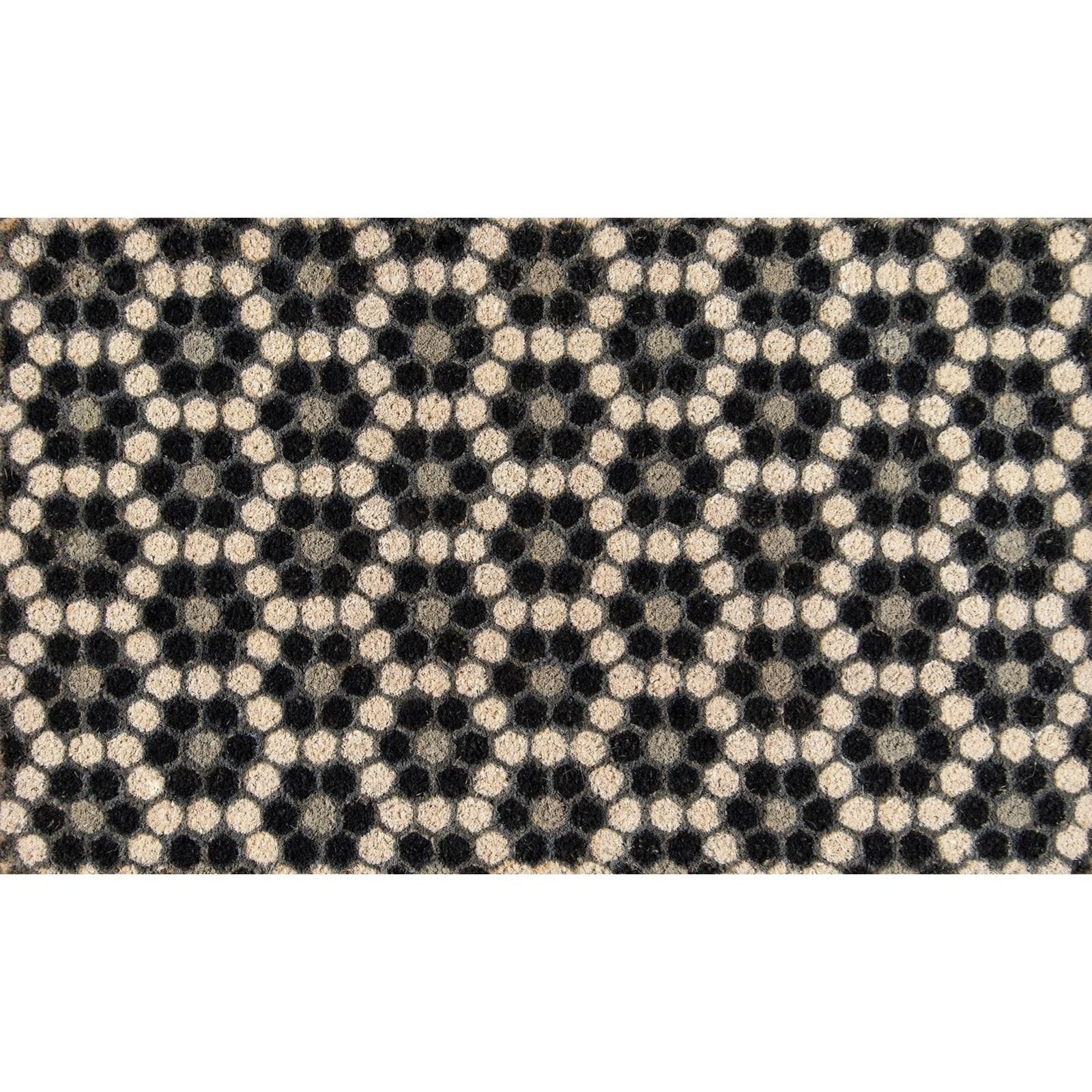 """Novogratz Aloha Black Hex Tile 1'6"""" x 2'6"""" Rug by Momeni at Belfort Furniture"""