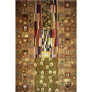 5.3 x 8 Area Rug : Brown