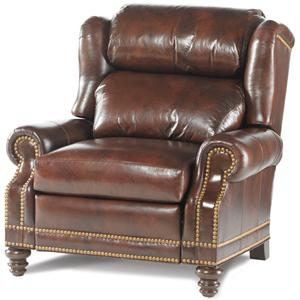 Bustle Back Wing Recliner with Nailhead Trim
