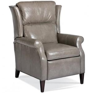 Traditional Push Back Recliner with Tapered Feet