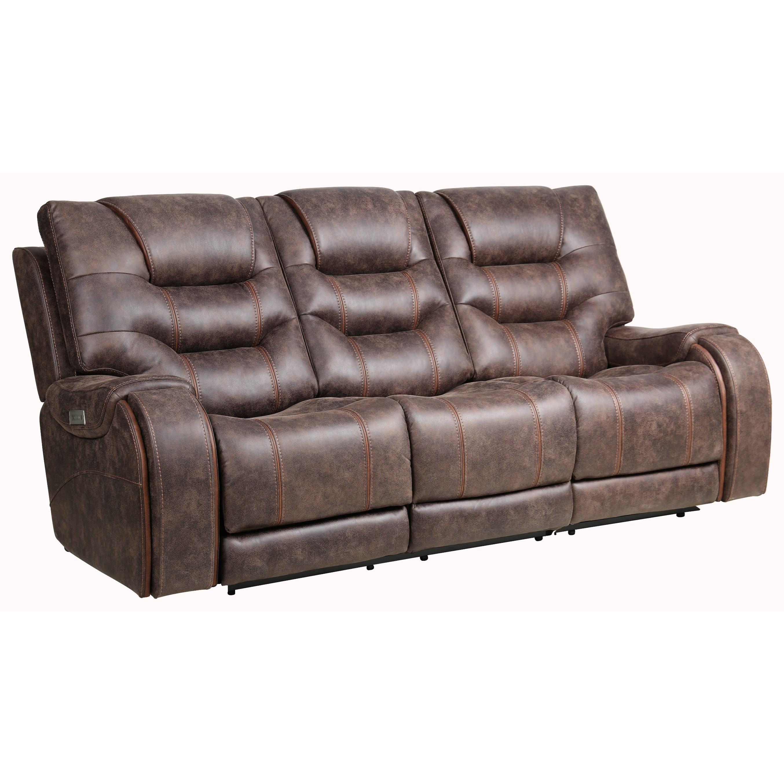 Warehouse M 2-Piece Power Reclining Sofa w/ Pwr Headrest by Moto Motion at Pilgrim Furniture City