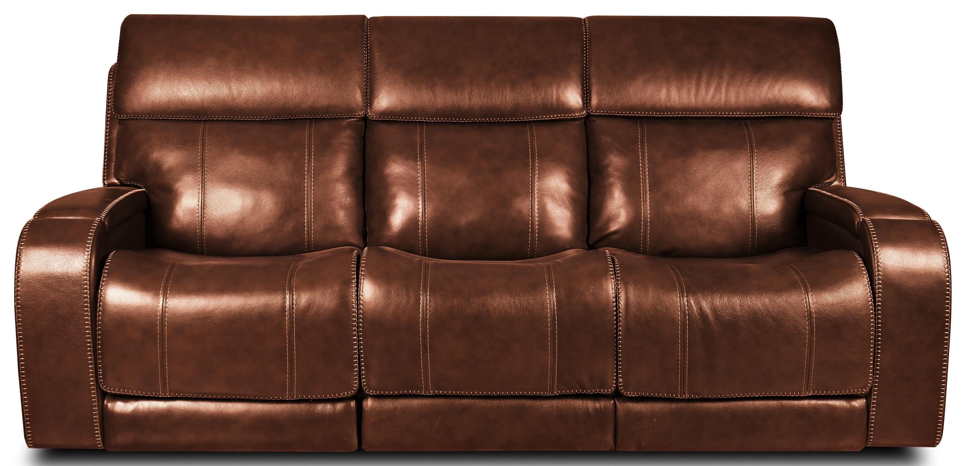 462 Sofa Triple Power Leather Reclining Sofa by Moto Motion at Furniture Fair - North Carolina