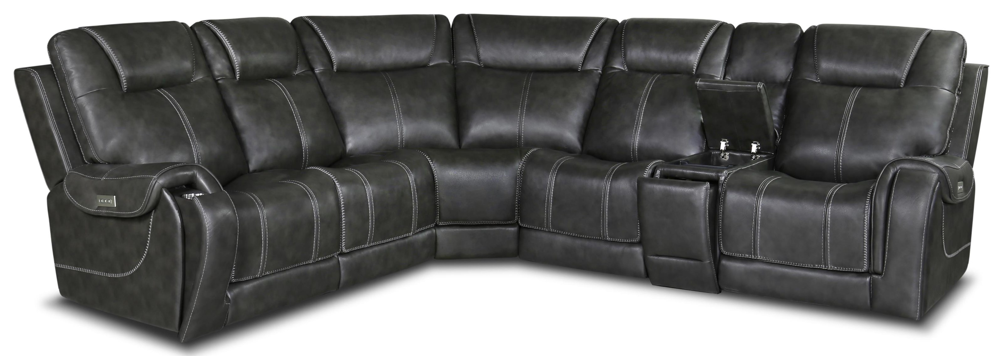 563 Sectional Six Piece Power sectional by Moto Motion at Furniture Fair - North Carolina