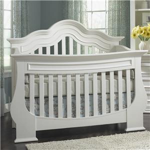 Muniré Furniture Capri  Lifetime Curved Top Convertible Crib