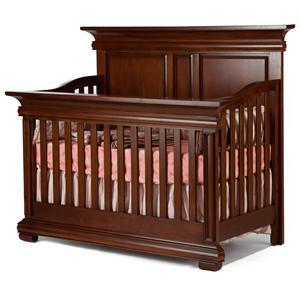 Muniré Furniture Majestic Full Panel Flat-Top Lifetime Crib
