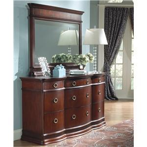 Muniré Furniture Park Avenue Double Dresser and Mirror Combo