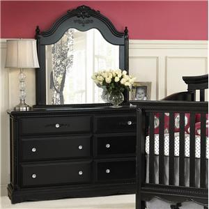 Muniré Furniture Savannah Dresser and Mirror
