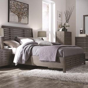 Contemporary California King Bed with Footboard Storage
