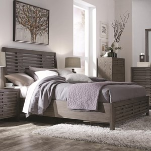Contemporary Queen Bed with Footboard Storage