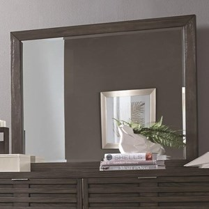 Contemporary Dresser Mirror with Wooden Frame