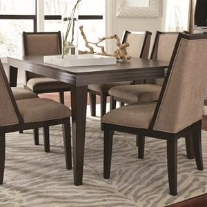 Contemporary Rectangular Dining Table with One Removable Leaf