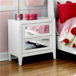 2 Drawer Nightstand with Reversible Drawer Front Panels