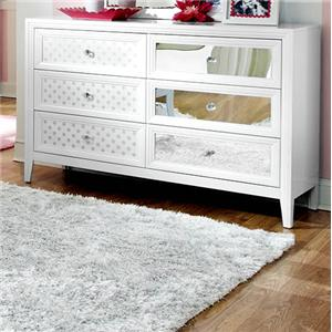 6 Drawer Dresser with Reversible Drawer Front Panels