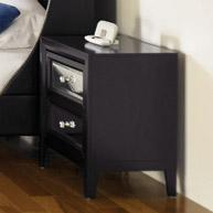 Two-Drawer Nightstand with Reversible Panels