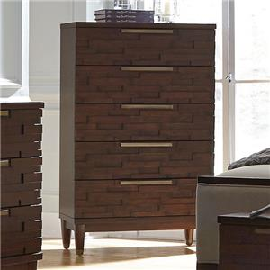 Contemporary Chest with Five Drawers