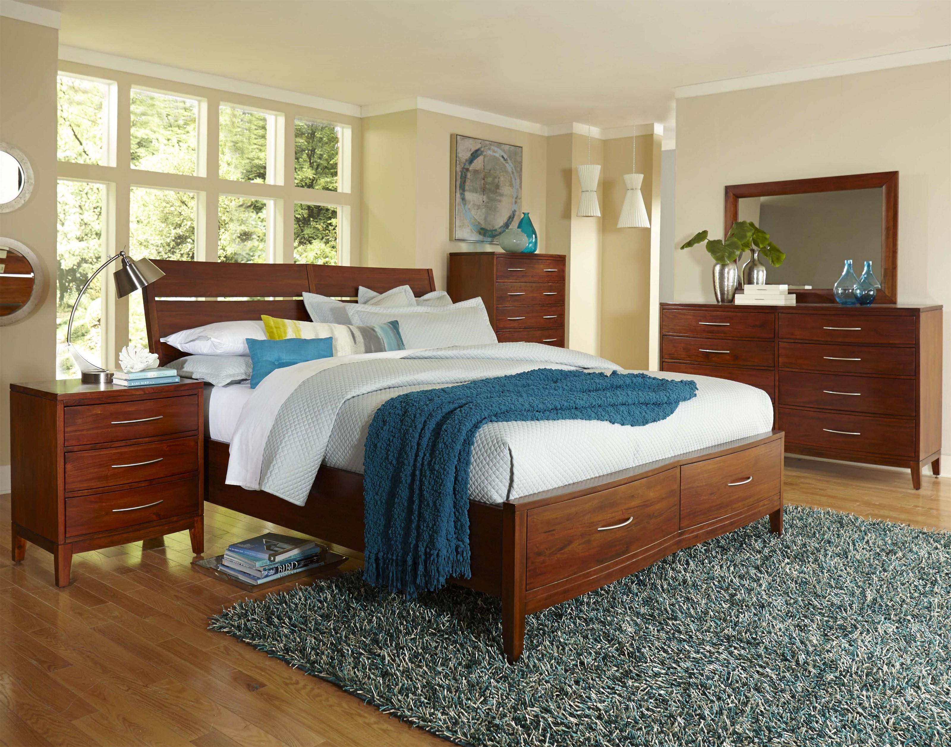 Boston Brownstone California King Storage Bed by Napa Furniture Designs at HomeWorld Furniture