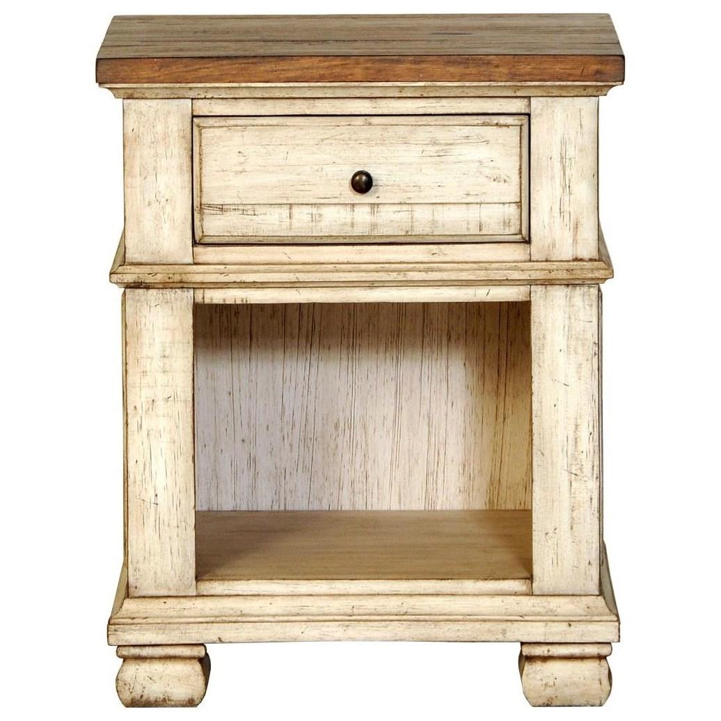 Belmont 1 Drawer Night Stand by Napa Furniture Designs at HomeWorld Furniture