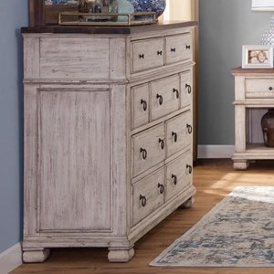 Relaxed Vintage Dresser with 7 Drawers