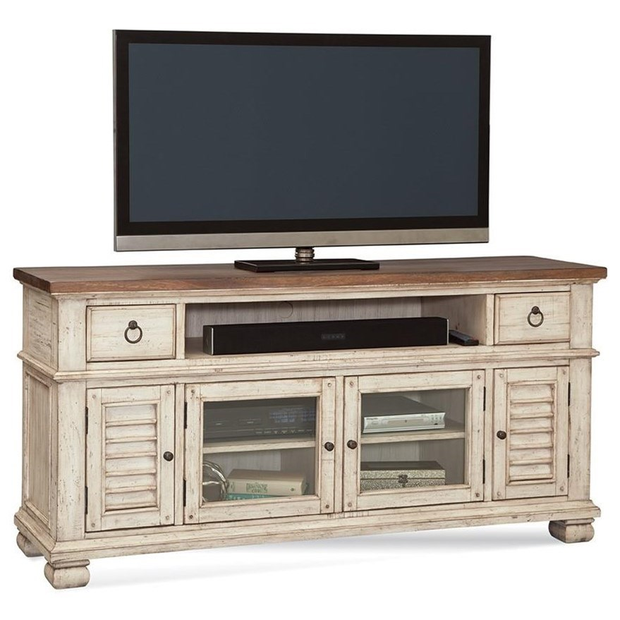 "Belmont Entertainment Center 66"" by Napa Furniture Designs at Johnny Janosik"