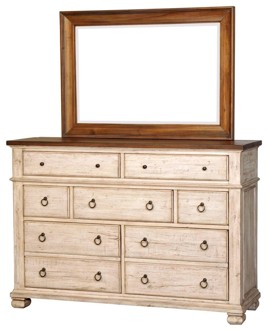 Belmont Dresser and Mirror Combo by Napa Furniture Designs at Johnny Janosik