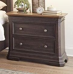 Grand Louie Large 2 Drawer Nightstand by Napa Furniture Designs at Johnny Janosik