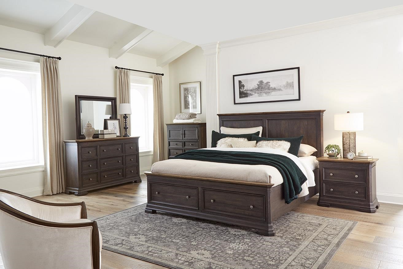 Grand Louie Queen Panel Storage Bed by Napa Furniture Designs at Johnny Janosik